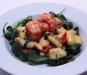 Yabbies with Goats Cheese Gnocchi