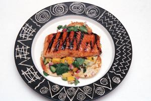 Grilled Salmon plated