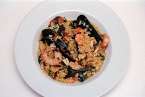 Red Curry Seafood Risotto