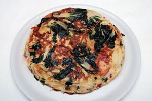 Oriental Prawn and Vegetable Frittata
