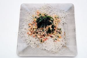 Thai Crab Salad on a bed of Crispy Noodles
