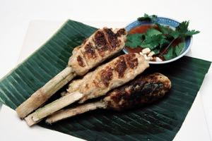 Prawn Sugar Cane Skewers