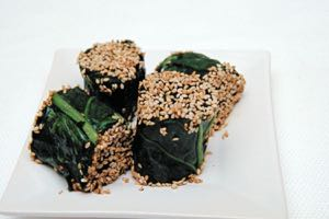 Japanese Spinach Rolls