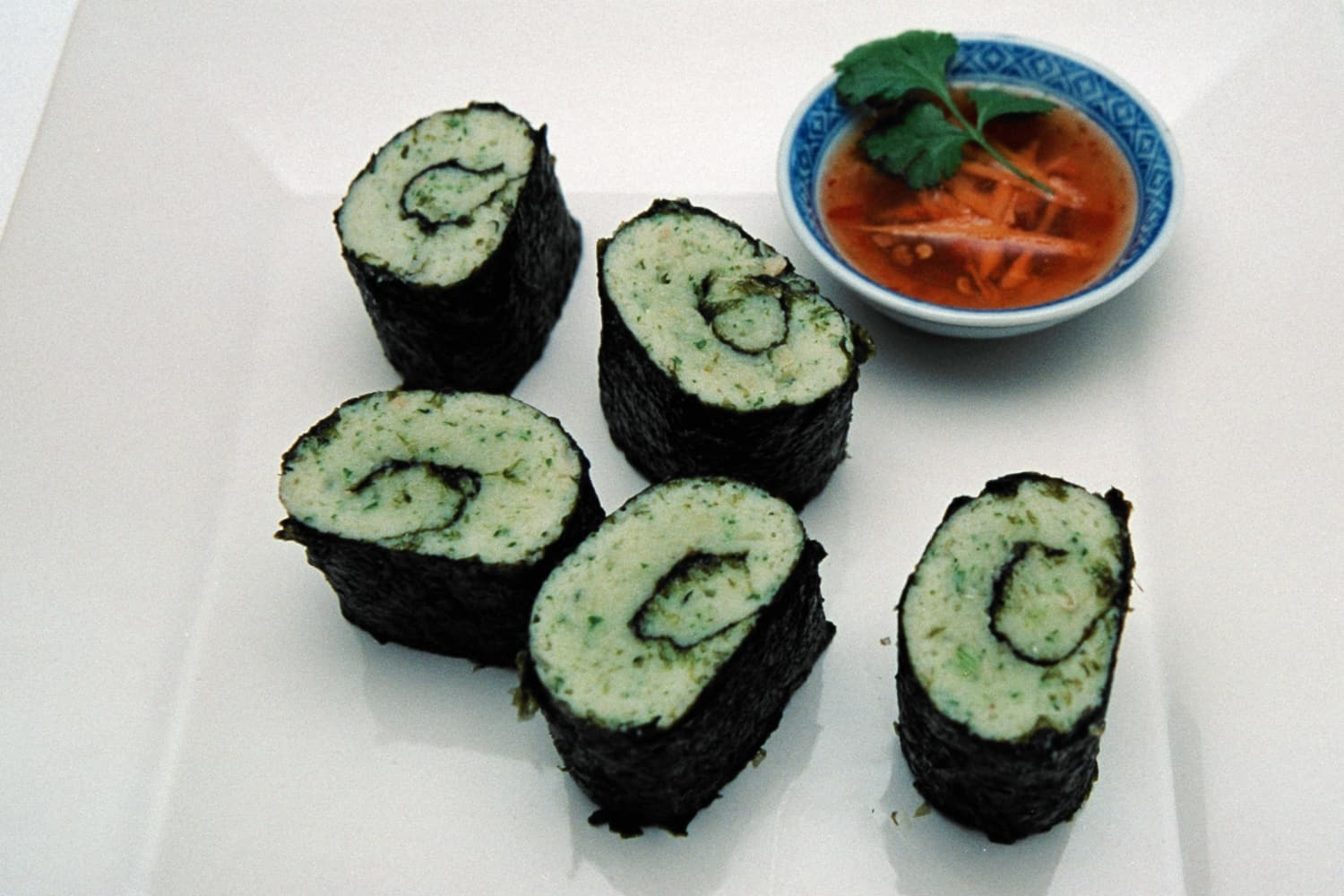 Steamed Seafood Nori Rolls