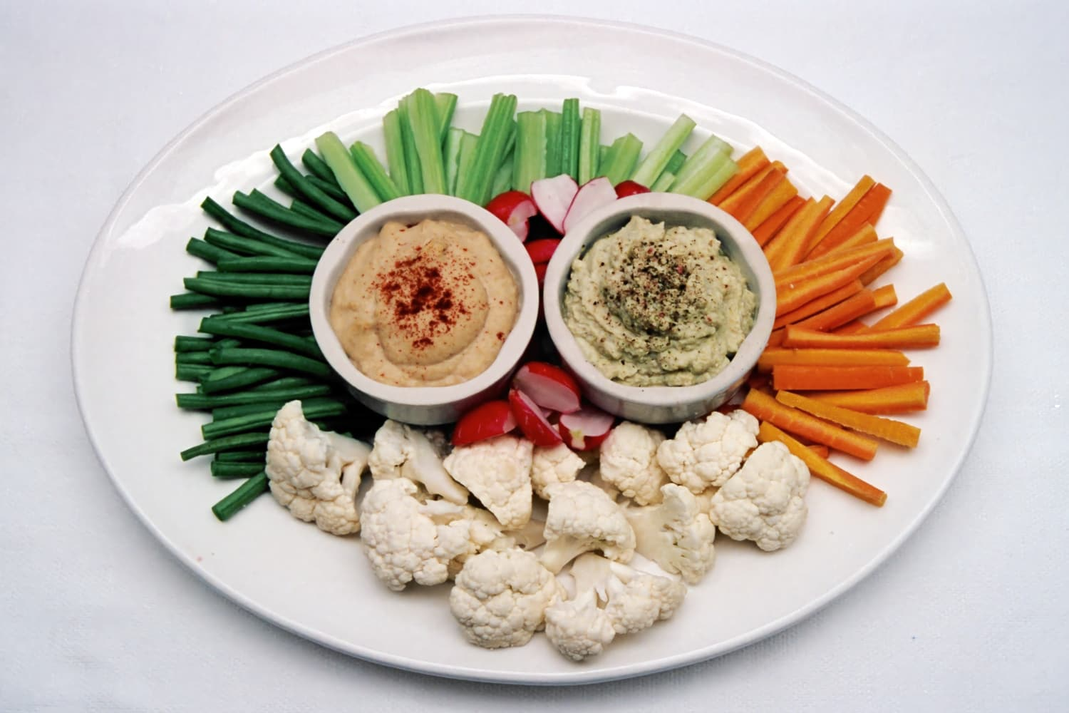 Vegetable Batons with Dips