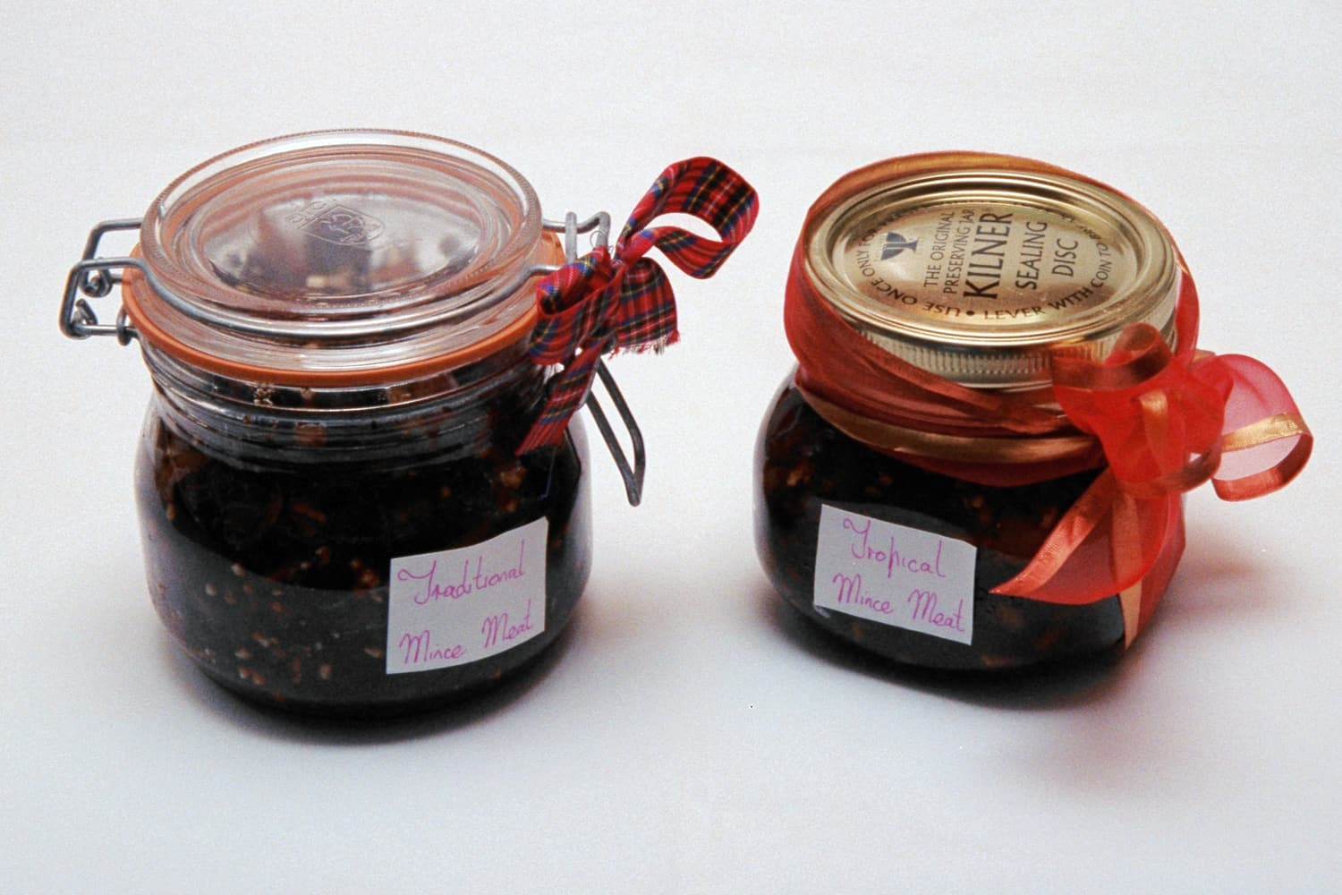 Mincemeat in sealed jars