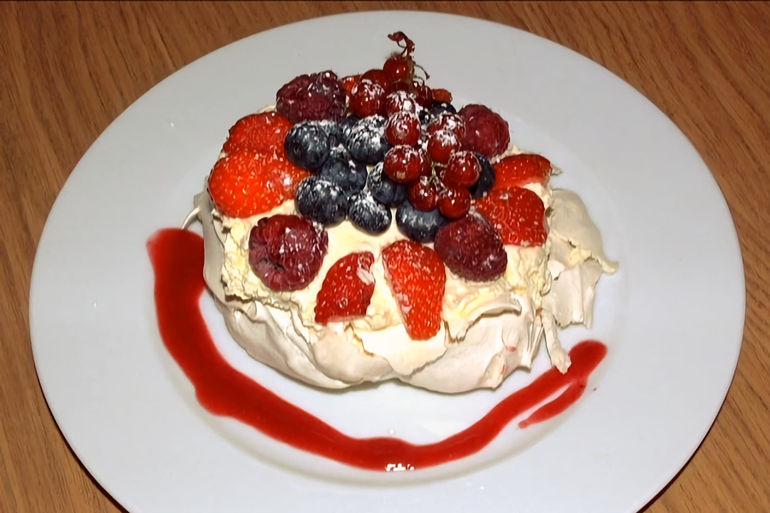 Individual Rose Water Pavlovas with Summer Berries