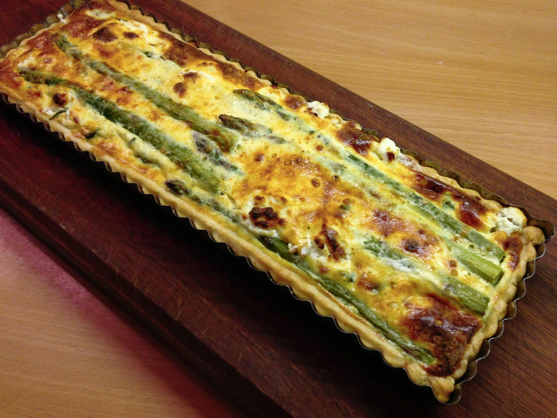 Asparagus and Herb Quiche