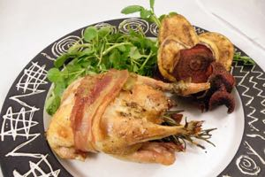 Roast Partridge ready to eat